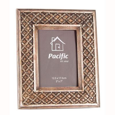 Antique Gold Polyresin Lattice Design Photo Frame