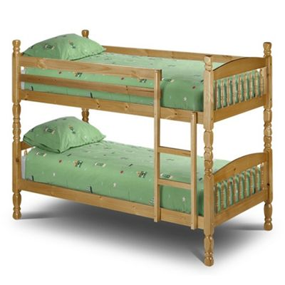 Solid Pine Shaker Style Bunk Bed 2 x Small Singles - 2ft 6' (76cm)