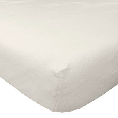 Homescapes Cream Brushed Cotton Fitted Sheet 100% Cotton Luxury Flannelette, King