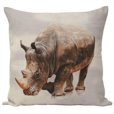 Riva Home Animal Rhino Multicolour Cushion Cover - 55x55cm