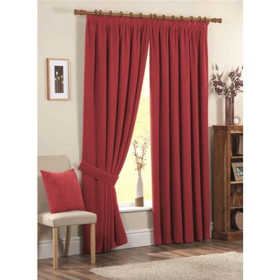 Mason Gray Chenille Spot Red Cushion Cover - 43x43cm