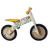 Kiddimoto Kurve - Butterfly Wooden Balance Bike suitable from 3 years+