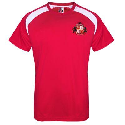 Sunderland AFC Mens Poly T-Shirt Red Medium