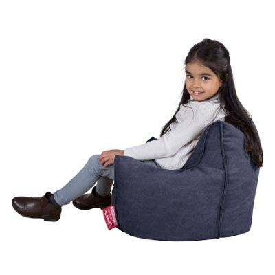 Lounge Pug® Childrens Armchair Bean Bag - Denim Navy