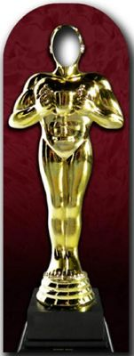 Award Statue Stand In Cardboard Cutout - 179cm