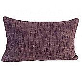 Homescapes Nirvana Cotton Mauve Scatter Cushion, 30 x 50 cm