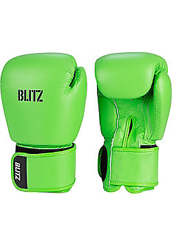 Blitz - Standard Leather Boxing Gloves - Neon green