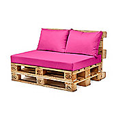 Pink Back Fibre Printed Pallet Cushions Hollowfibre Garden Patio