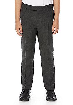 F&F School Boys Slim Fit Trousers - Dark grey
