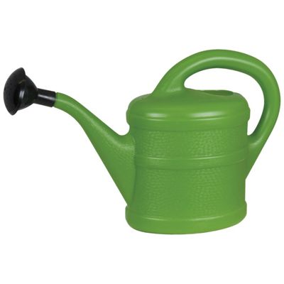 Small 1L Children's Green Plastic Garden Watering Can with Rose