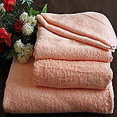 Homescapes Turkish Cotton Peach Bath Sheet