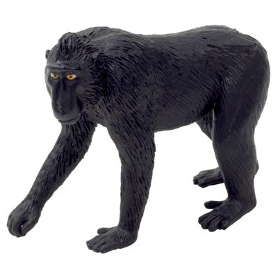 Realistic Black Crested Macaque Figurine Toy by Animal Planet