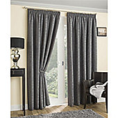 Enhanced Living Balmoral Pencil Pleat Curtains - Grey