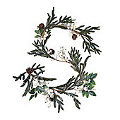 White Berry & Cone Christmas Garland