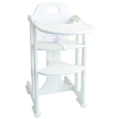 East Coast Wooden Multi-Height Highchair - White