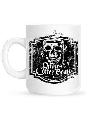 Pirates Of The Coffee Bean 10oz White Ceramic Mug