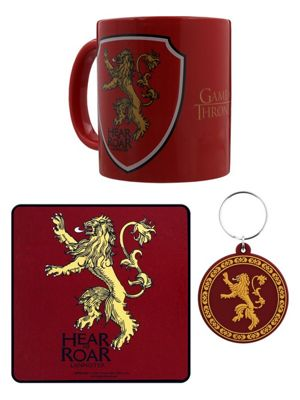 Game of Thrones Lannister Mug Coaster And Keyring Set