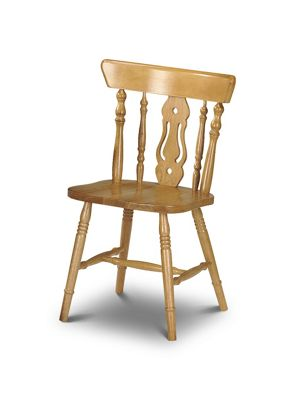 Fiddleback Solid Pine Chair
