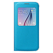 Samsung EF-CG920B Fabric S View Cover (Blue) for Galaxy S6 Smartphone