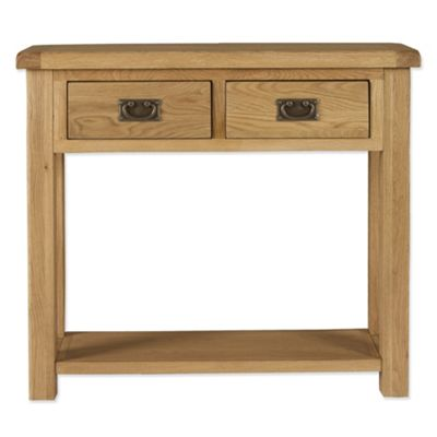 Elements Woodville Two Drawer Console Table