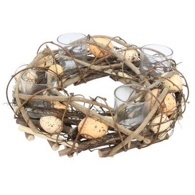Egg & Twig Nest Tea Light Holder - Large