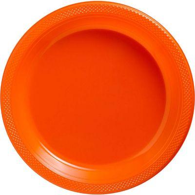Orange Serving Plates - 26cm Paper - 50 Pack