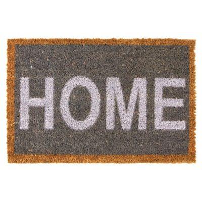 60 x 40cm Bold 'HOME' Print Coir Doormat
