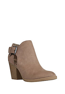 F&F Cut-Out Detail Western Ankle Boots - Neutral