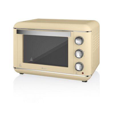 Swan 23L Retro Electric Oven- Cream