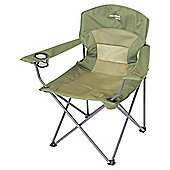 Yellowstone Ashford Executive Folding Camping Chair, Khaki Green