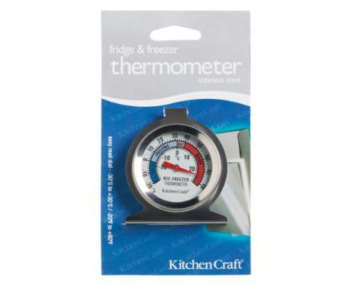 Kitchen Craft Deluxe Stainless Steel Fridge Thermometer, Carded