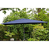 Oxford 3m x2m Rectangle Garden Parasol Blue