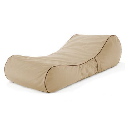 Loft 25 Water Resistant Bean Bag Sun Lounger - Stone