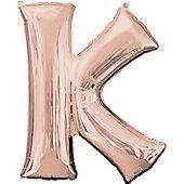 Rose Gold Letter K Balloon - 34 Foil