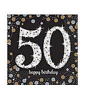 Sparkling Celebration Age 50 Lunch Napkins - 2ply Paper