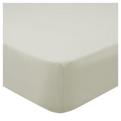 Tesco 68 pc Fitted Sheet cream Single
