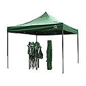 All Seasons Gazebos, Heavy Duty, Fully Waterproof, 3mx3m Pop up Gazebo in Green