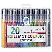 Staedtler Triplus Colour Fibre Colouring Pens Asstd 20 pack