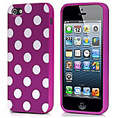 Lilac & White Polka Dot Hard Case for iPhone 5