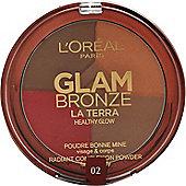 L'Oreal Glam Bronze La Terra Healthy Glow Compact 6g - 02 Medium Speranza