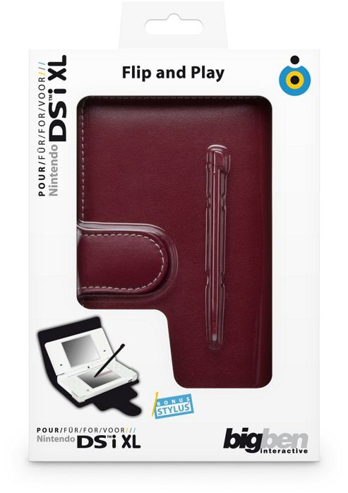 DSiXL Flip Play & Stylus (Red)