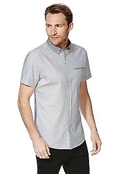 F&F Short Sleeve Slim Fit Shirt - Grey