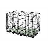Hq Pet Dog Folding Crate With Bed Puppy Pet Carrier Training Cage Medium