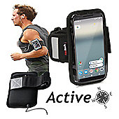 Navitech Black Running / Jogging / Cycling Water Resistant Sports Armband For The Google Pixel 2 XL