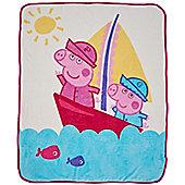 Peppa Pig Coral Fleece Blanket - Nautical