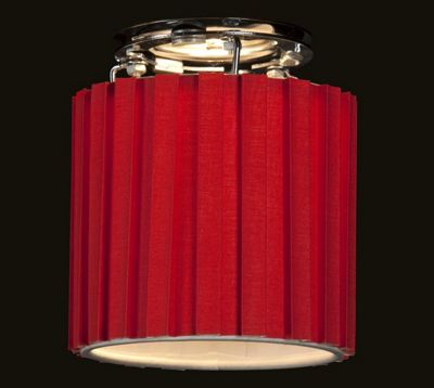 Stylish Snood Short Hard Back Box Pleat Red Lamp Shade