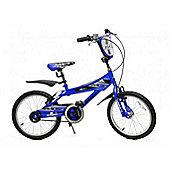 """Ammaco MX20 20"""" Wheel Boys Bmx Bike Blue With Mudguards & Stand"""