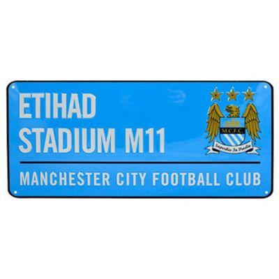 Manchester City FC Etihad Stadium Street Sign - Blue