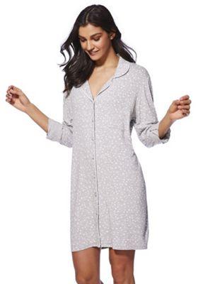 F&F Star Print Jersey Nightshirt Grey 20-22