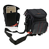 Navitech Black Protective Portable Handheld Camera Carrying Case for the Nikon Coolpix W100 / A900 / A300